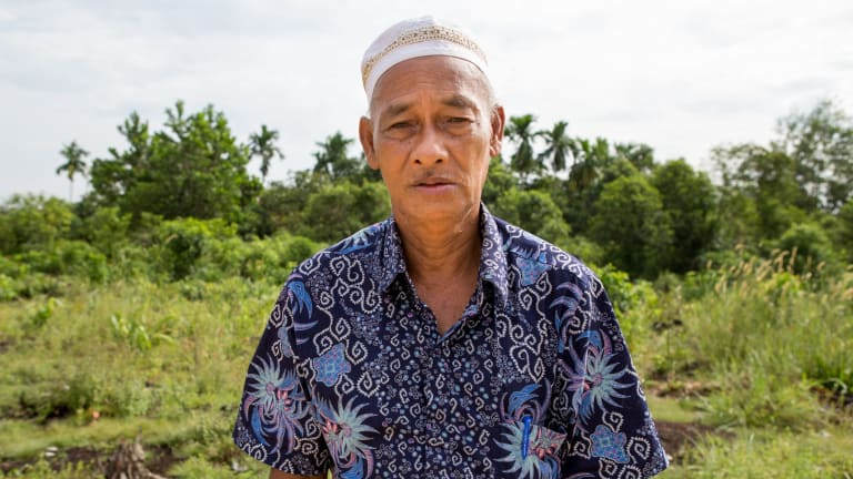Haji Muhammad Yunus, the head of Sering is angry his village missed a financial reward.