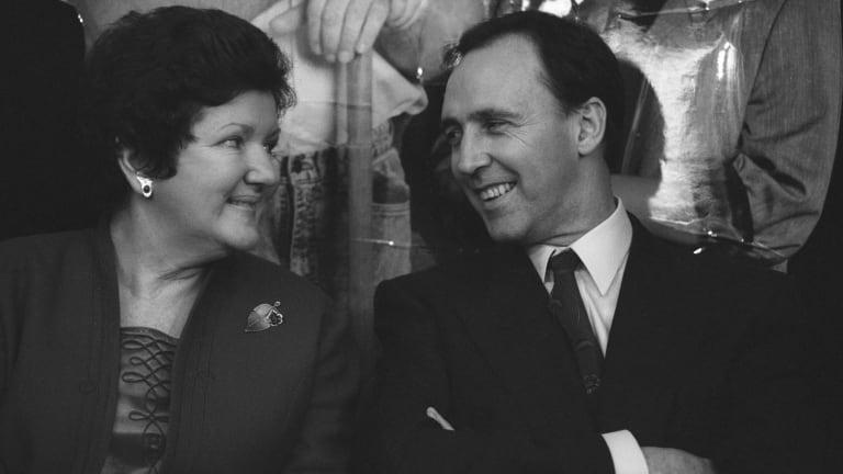 Joan Kirner with Paul Keating in 1992.