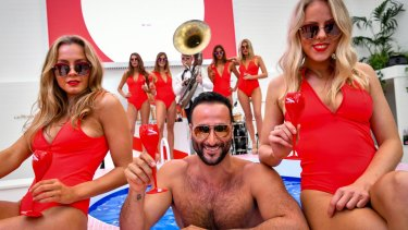 Mumm has made history with the first swimming pool in a Birdcage marquee.