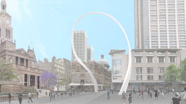 An artist's impression of the Cloud Arch art sculpture, which will be built by March 2019.
