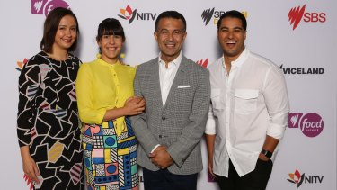The SBS launch: (from left) Laura Murphy-Oates, Jeanette Francis, Michael Ebeid and Marc Fennell.