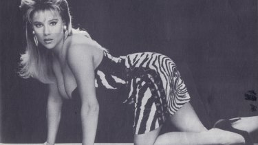 Samantha Fox, pictured modelling for The Sun in the 1980s.