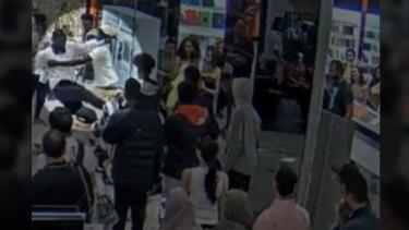 CCTV stills of Maribyrnong Highpoint incident