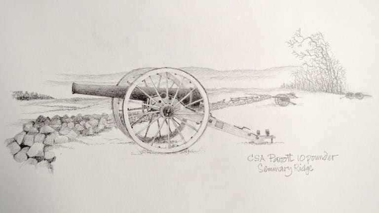 Grahame Crocket's CSA Cannon, 2015 is in the Distant Voices exhibition at M16 Artspace.