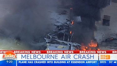 Plane crash at Essendon DFO