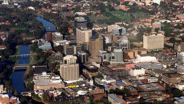 """An area spanning from greater Parramatta to Olympic Park has been labelled """"GPOP""""."""