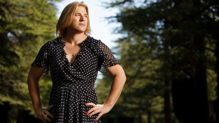 Transgender footballer Hannah Mouncey was thrust in the public eye after an AFL panel ruled that she was ineligible for the AFLW draft in October.