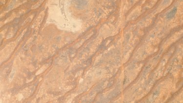 Australia's dingo fence as seen by a Planet Labs satellite.