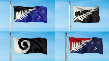 NZ flag referendum: Five flags to flutter over Wellington
