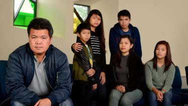 Filipino Antonio Enriquez (left) was employed as powerline maintenance on illegal contracts by Thiess on 457 visas.