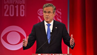 Jeb Bush, former Governor of Florida and 2016 Republican presidential candidate, speaks during the Republican presidential candidate debate in South Carolina on Saturday.