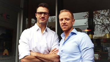 Blair Norfolk (left) and Alex Lewit are keen to expand their operation into the lucrative Chinese market.