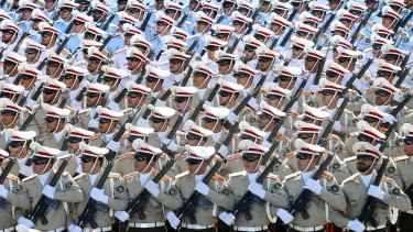 Members of the Iranian armed forces. Tensions continue to rise between Tehran and Washington.