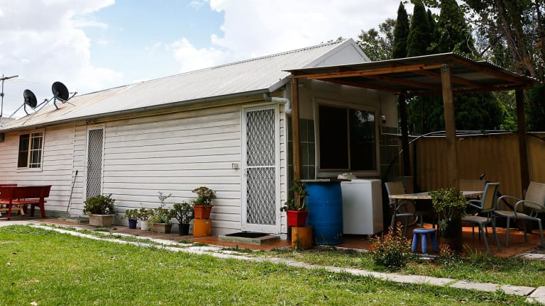 The granny flat in Sydney's west, shared by the two men, raided by police on Tuesday.