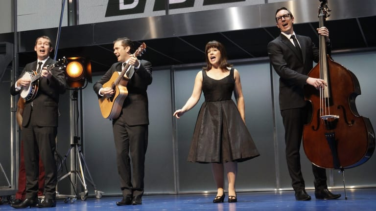 Mike McLeish, Phillip Lowe, Pippa Grandison and Glaston Toft in <i>Georgy Girl: The Seekers Musical.</i>