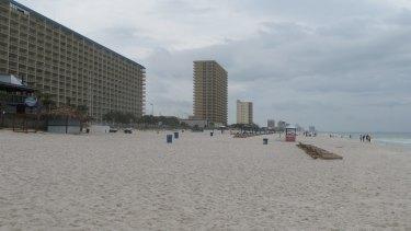 The beach in Panama City, Florida.