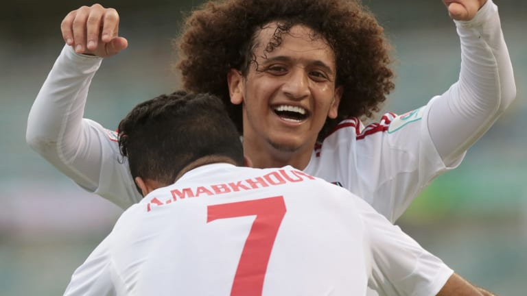 Great tournament, great hair: UAE's Omar Abdulrahman.