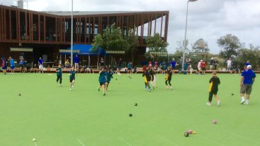 Bowled over by fun at Carrum Bowling Club.