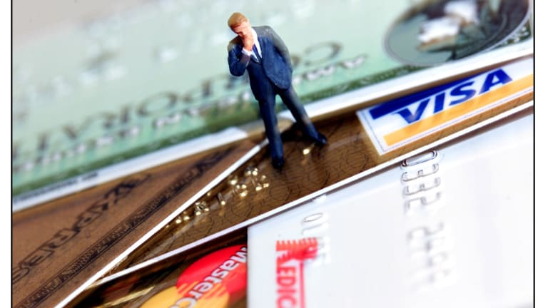 Credit card interest can be up to 22 per cent.