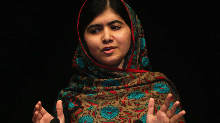 Undeterred: Nobel-prize winning Pakistani teenager Malala Yousafzai was a victim of Taliban violence.
