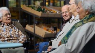 Video still of residents of Dutch dementia village, Hogeweyk. Photo: YouTube.