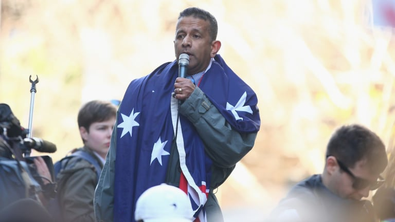 Danny Nalliah is leader of the of anti-Islamic party Rise Up Australia.