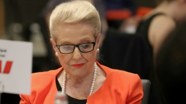 Former speaker Bronwyn Bishop attends a Press Club event following her retirement last year.
