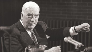 Prime Minister Robert Menzies holds last press conference in Canberra on 20 January 1966.