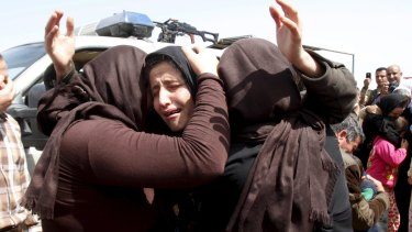 Yazidis released by Islamic State in April.