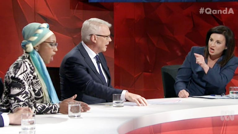 Yassmin Abdel-Magied was a panellist in a fiery Q&A, with her Anzac Day post bearing the brunt of much ire.