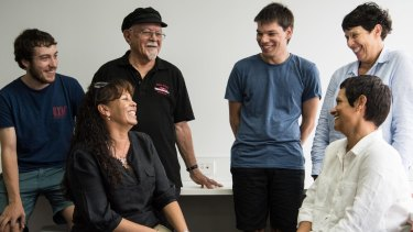 From left, Angus Cameron, Sophia Brown, Garruu Victor Chapmna, Brandon Nicholls, Priscilla Strasek and Tracy Cameron, who are doing an intensive summer course to learn the near-extinct Gamilaraay language.