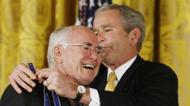 John Howard was awarded the Presidential Medal of Freedom from George W. Bush in 2009 in part thanks to their unity over the Iraq war.