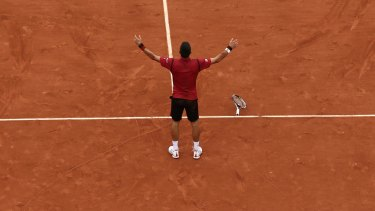 Novak Djokovic wins the one that had eluded him, beating Andy Murray in the French Open final 3-6, 6-1, 6-2, 6-4.