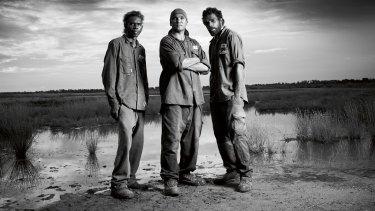 Manapan's Terence Baker, Josiah Baker and Sean Mandaway.