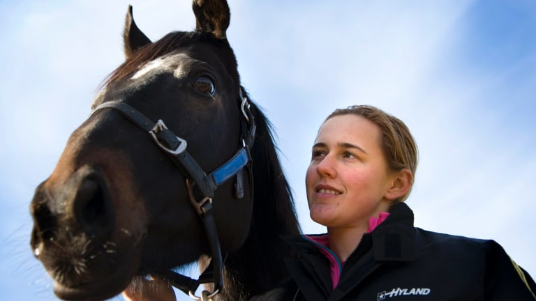 Samara Johnson rode trackwork in Canberra and race meetings on the picnic circuit.