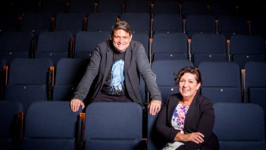 Wesley Enoch and his sister Leeanne Enoch at the Queensland Theatre Company.