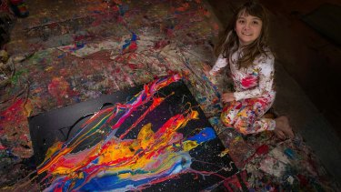 Abstract artist Aelita, 10,  appears in <i>Making a Child Prodigy</i> on ABC.