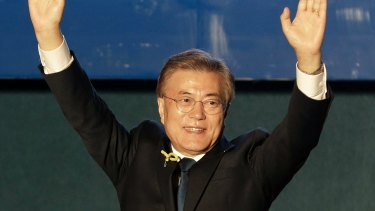 Moon Jae-in declared victory in South Korea's presidential election.