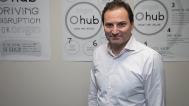 Origin Energy chief executive Frank Calabria at the company's O-Hub technology space in Melbourne.