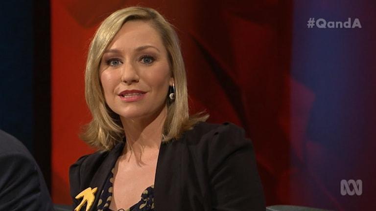 Dissenting view: Greens senator Larissa Waters, deputy chair of the Senate committee looking at media reform laws.