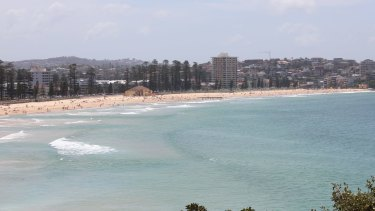 Manly Beach this morning.
