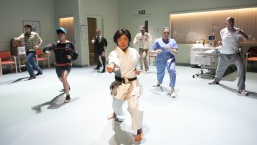 Natsuko Mineghishi delivers an impressive performance in <i>Back at the Dojo</i>.