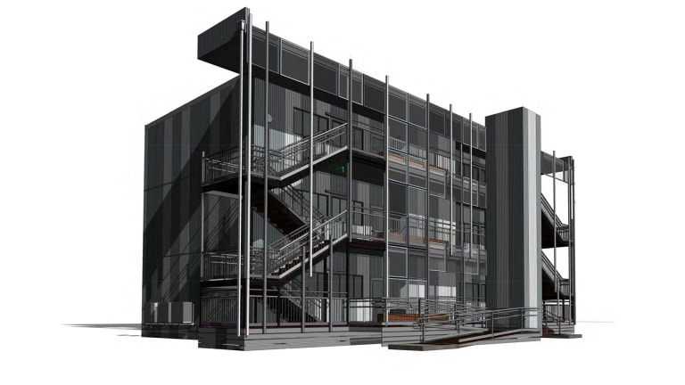 The new triple-storey classroom design that will be Victorian schools next year.