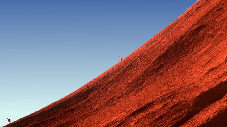Climbing Uluru is discouraged by the local Aborigines, and is also dangerous.