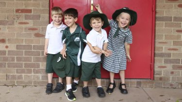 Ben Gray, Xavier Bustos, Alex Gray and Charlie Tsaltas of Wilkins Public School would like to enrol in ethics classes.