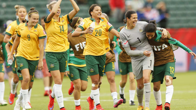 The Matildas celebrate another impressive result at the Women's World Cup.
