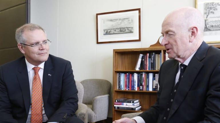 Mr Morrison during a meeting on Wednesday with Reserve Bank governor Glenn Stevens.