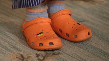 81409bd84b3980 American chef Mario Batali in his signature orange Crocs  The shoemaker has  found a niche