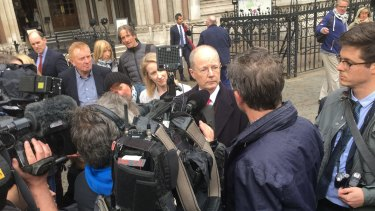 James Thornton outside Britain's High Court after successfully pushing for the government to release its plans to tackle city air pollution.