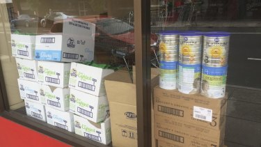 Half baby formula bought from Aussie supermarkets being sent overseas